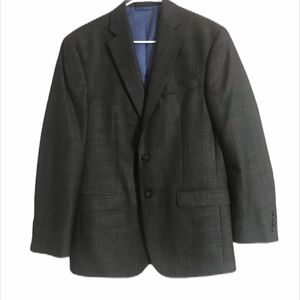 Chaps Gray Plaid Blazer